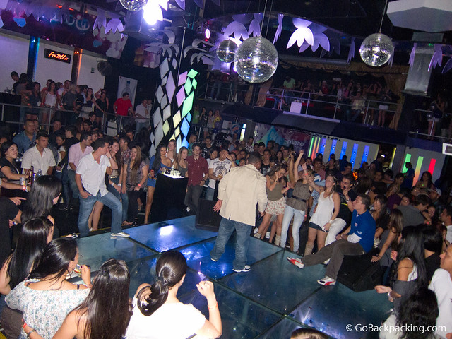 A late night performance inside Prizma Discoteca
