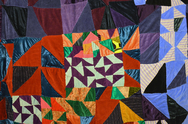 Rosie Lee Tomkins Quilt from Eli Leon's African-American collection - improviational patchwork