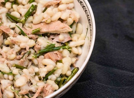 Tuna and Flageolet Bean Salad with Garlic Scapes (5 of 5)