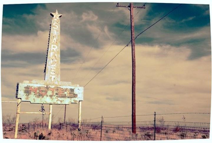 Stardust Motel Neon Sign Marfa Texas West DSC_9520x by Dallas Photographer David Kozlowski
