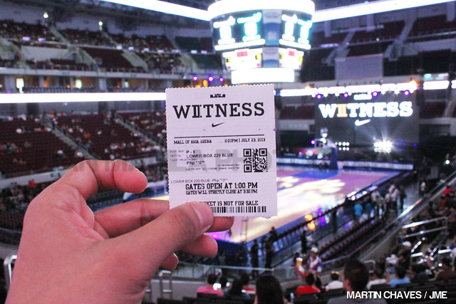Witness History LeBron James in Manila 2013.