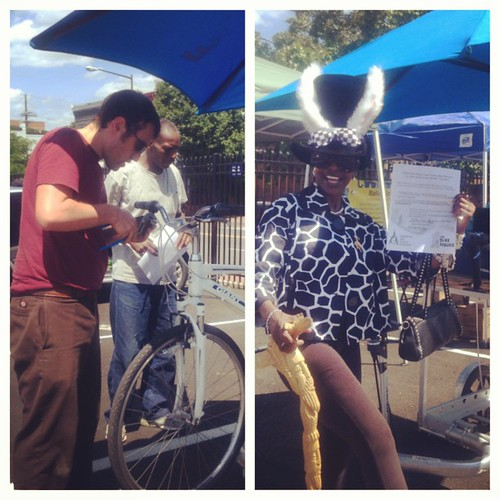 Our east of the river outreach program has partnered with The Bike House to run bike-repair clinics at the Big Chair flea market. See waba.org/get_involved/eastoftheriver.php for more information.