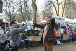 Portland High Five (in which you pretend to high five a friend while patting yourself on the back),  Portland Farmers Market