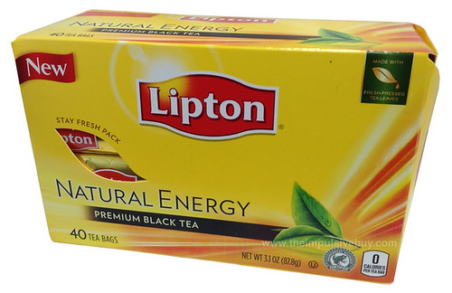 Lipton Natural Energy Premium Black Tea