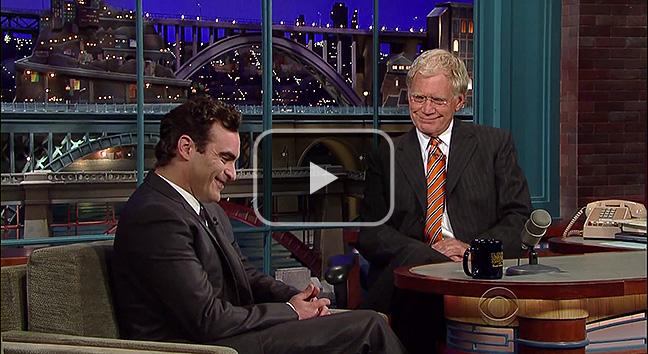 Joaquin Phoenix on David Letterman