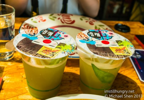Ms G's green tea slushie