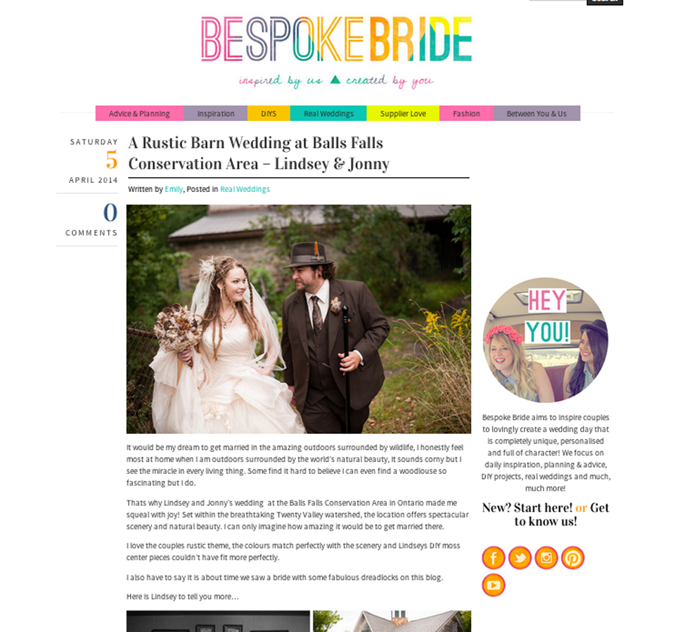 Bespoke Weddings Publication Balls Fall Conservation wedding photography