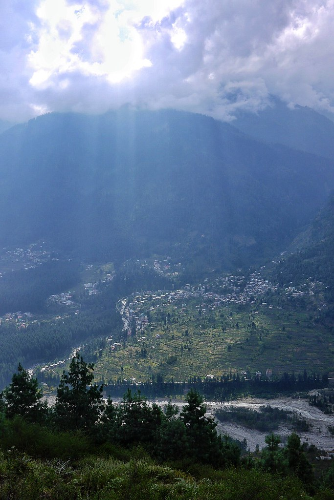 Suns rays on Old Manali