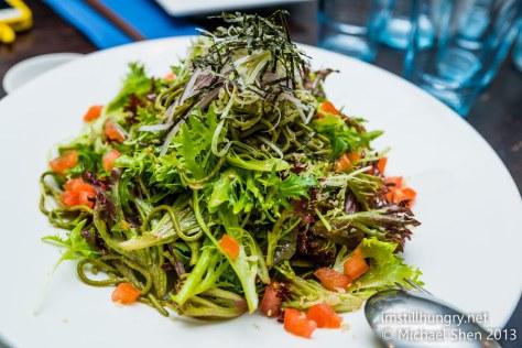 Green tea noodle salad Jazushi