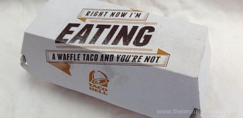 Taco Bell Waffle Taco Box