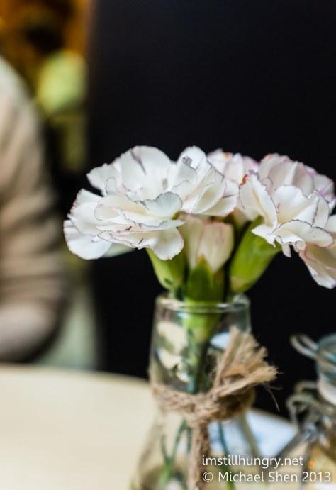 Devon Cafe flowers