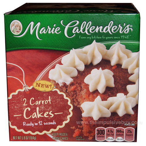 Marie Callender's Mini Carrot Cakes