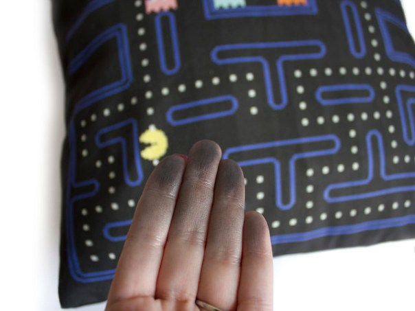 Colour rubbing off from Pac-man fabric