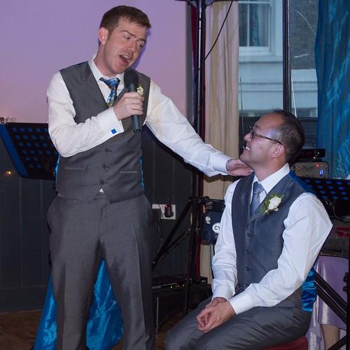 Chris sings We've Only Just Begun