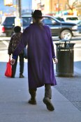 There is always a guy in a long purple coat somewhere on The Drive
