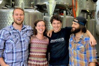 Shae, Trish, Kevin and Sean Deep Cove Brewing and Distilling