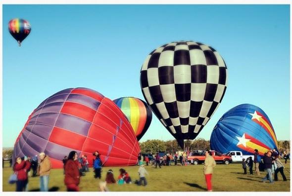 Albuquerque Balloon Fiesta New Mexico Hot Air Mass Acension DSC_6106x by Dallas Photoworks