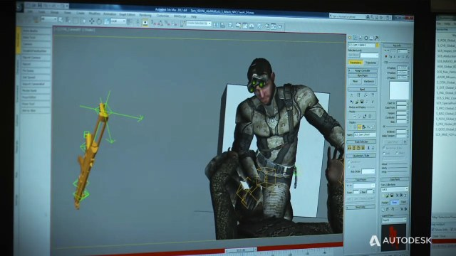 Splinter Cell character animation development with Autodesk