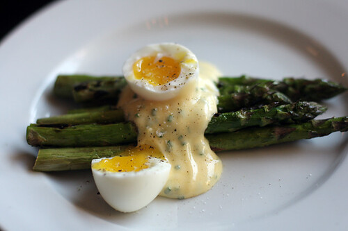 asparagus with pheasant egg