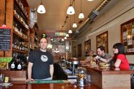 David behind the bar at Beer