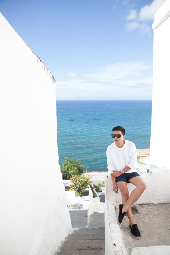 Bryanboy at Cafe Hafa, Tangier, Morocco