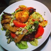 Cobb Salad with breaded poached egg