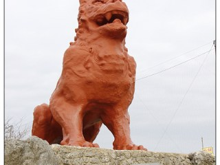 [沖繩.自駕]殘波大獅子~全沖繩最大的風獅爺.七米高