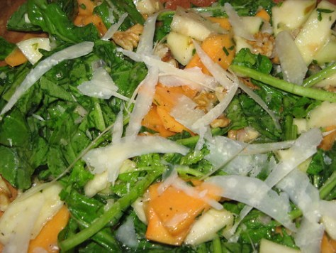 Persimmon, Pear & Arugula Salad