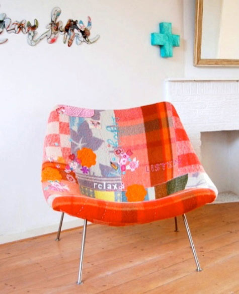 Patchwork chair with tutorial