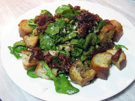 Arugula, Walnut, Blue Cheese & Fig Preserve Salad