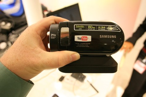 YouTube camcorder from Samsung