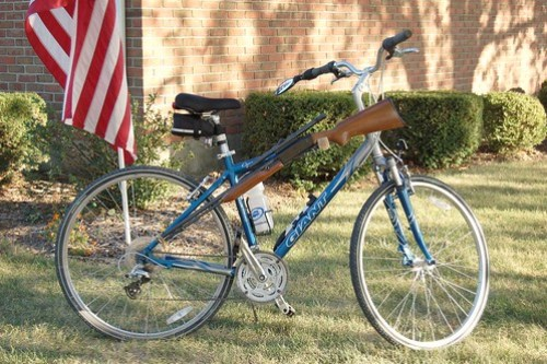 Russ's dad's gun bike