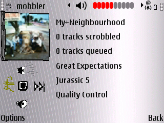 Mobbler streaming on the E71