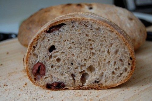 olive levain up close