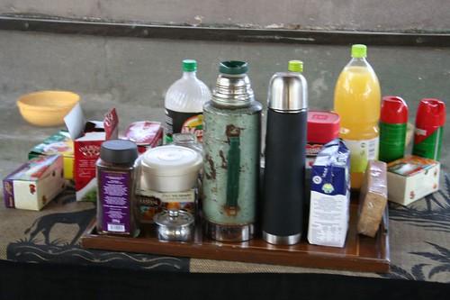 African breakfast tray