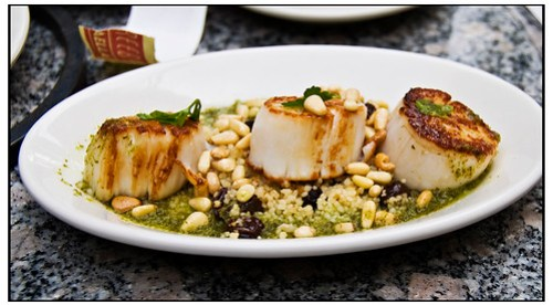Scallops and Pine Nuts