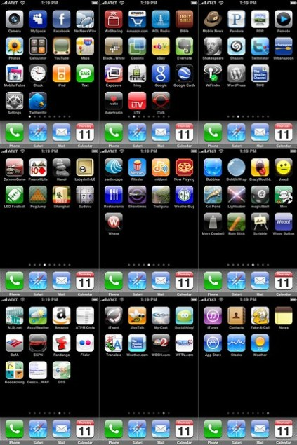 iPhone Home Screens, December 11, 2008
