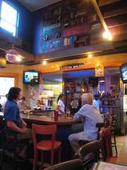 bar area at Mellow Mushroom