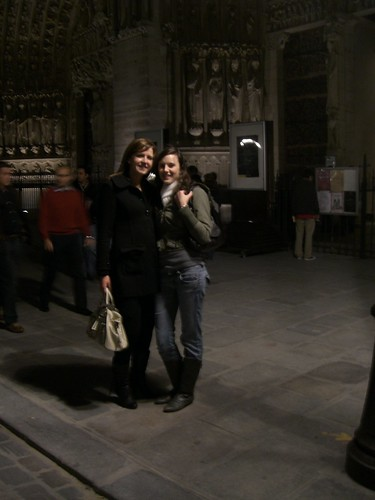Lauren and I infront of Notre Dame