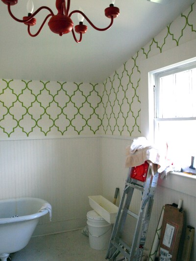 Our bathroom wallpaper is almost completed! I'm so excited! It's… - oldhouses