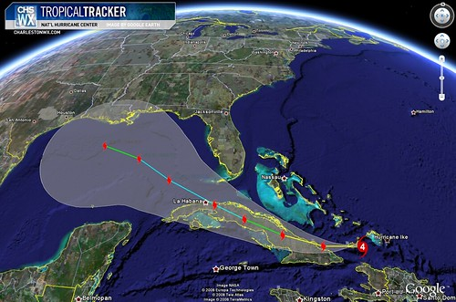 Hurricane Ike:  Projected Path, 11am 09/07