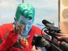 Captain Planet and cat