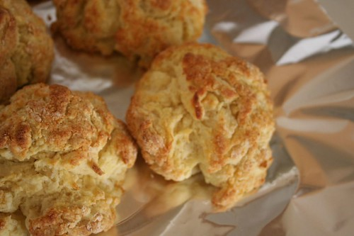 buttermilk biscuits, cooling