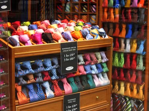 """Colourful"" Ties in London's Mayfair"