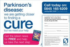 Press advert for Parkinson's Disease Society