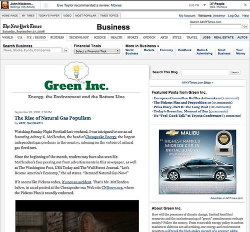 Green Inc. Blog