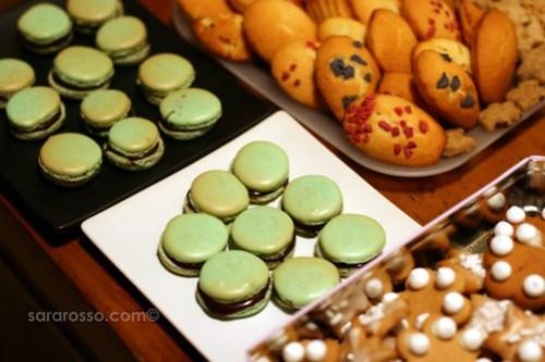 Dark Mint Chocolate Ganache French Macarons