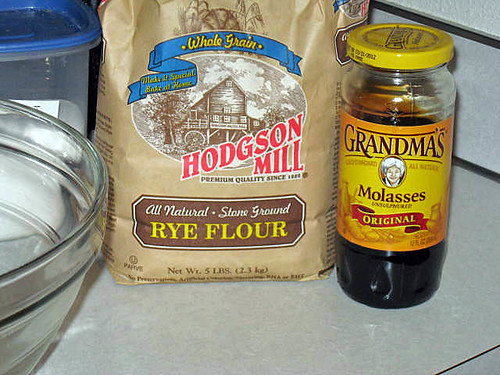 Ingredients for Rye Bread