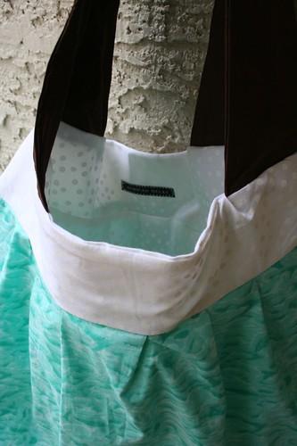 Turquoise birdie bag