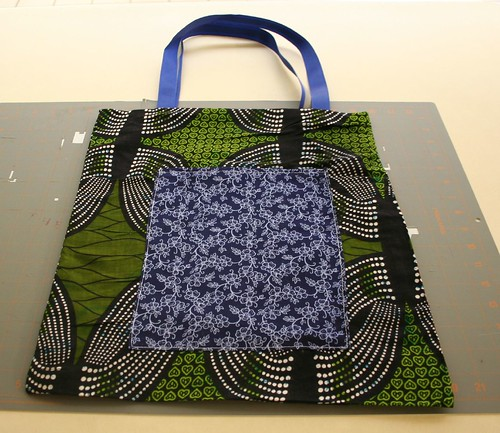 ribbon tote tutorial, right side out, completed